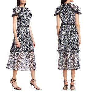 Monique Lhuillier • NWT Embroidered Mesh Dress